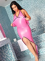 Jasmine Latex Cuckold Credit Card Tease