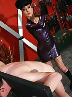 Strict and cruel rubber Mistress