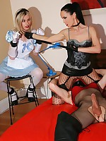 Submissive sissy gets cuckolded
