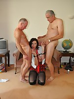 Lara Latex and  the two old man