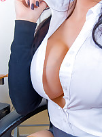 Big Boobed Secretary Charley Atwell Strips her Hot Assets in Hold-ups