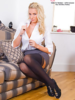 Stocking and Busty Secretary Danielle Maye Sextoys in her Sexecutive Suite