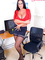 Big Boobed Secretary Emma Butt is the Executive Sexecutive in Stockings