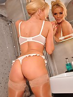 After a busy day shooting Lucy Zara runs herself a nice hot bath